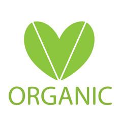 Green heart eco vector