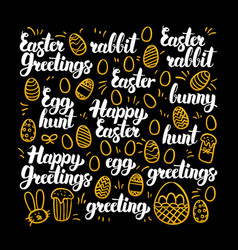 happy easter calligraphy design vector image