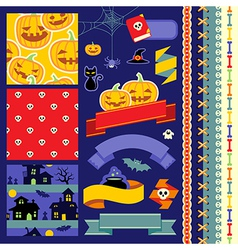 Happy Halloween scrapbook vector image