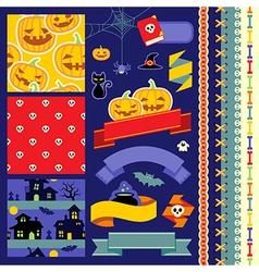 happy halloween scrapbook vector image