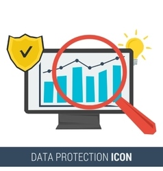 Icon concept data protection vector