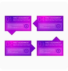 Infographics four steps vector