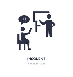 Insolent icon on white background simple element vector