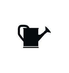 isolated watering can icon bailer element vector image