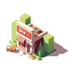 Isometric shop branding icon vector