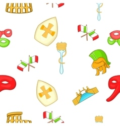 Italy pattern cartoon style vector