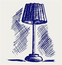 Lamp for the bedroom vector image