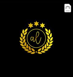 Luxury al initial logo or symbol business company vector