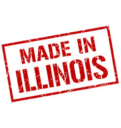 Made in illinois stamp vector