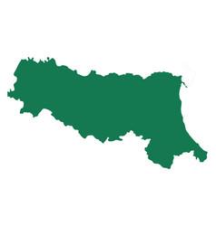 map emilia-romagna vector image