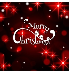 Merry christmas typographical background vector