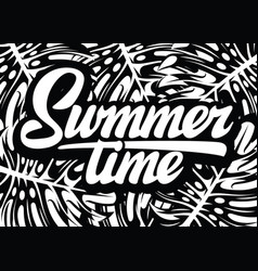 monochrome template for summer time party vector image
