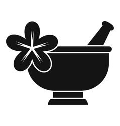 Mortar and pestle pharmacy icon simple style vector