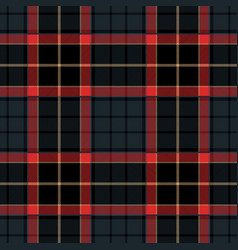 navy blue tartan plaid seamless pattern vector image