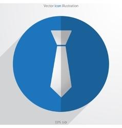 Necktie web flat icon vector