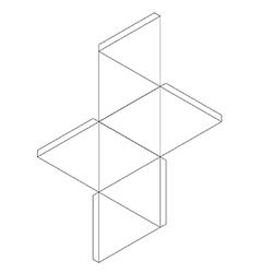 Octahedron vector image