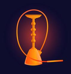 Orange hookah icon cartoon style vector