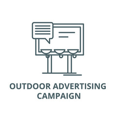 Outdoor advertising campaign line icon vector