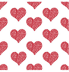pattern with mosaic hearts vector image