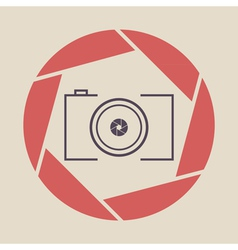 photo camera icon shutter vector image