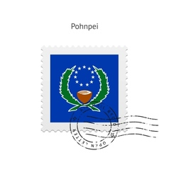 Pohnpei Flag Postage Stamp vector