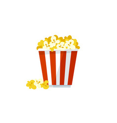 popcorn icon on a white background vector image