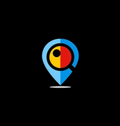 Position GPS location icon logo vector