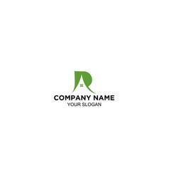 r house logo design vector image