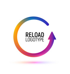 reload abstract logo retry colorful vector image