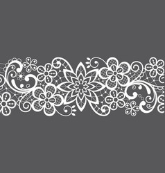 Romantic seamless lace pattern decorative vector