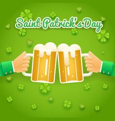 Saint patrick day celebration success vector