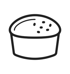 Scone bread vector