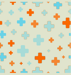 seamless pattern of plus signs scattered vector image