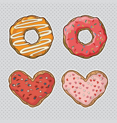 set cookies and donuts vector image