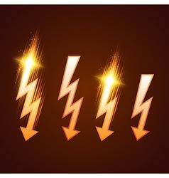 Shining Lightning Set vector image