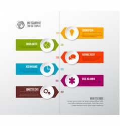 simple timeline template with icons vector image