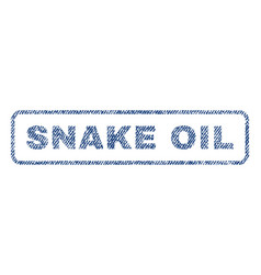 snake oil textile stamp vector image