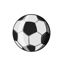 Soccer ball icon black monochrome style vector image