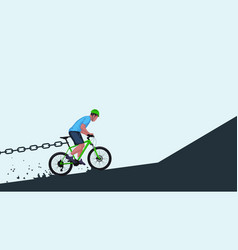 stoping bicycle riding vector image
