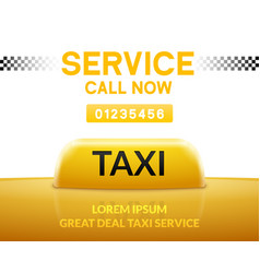 taxi car service background sign taxi city vector image