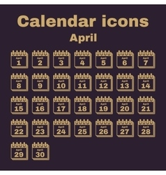 The calendar icon April symbol Flat vector