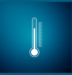 thermometer icon isolated on blue background vector image