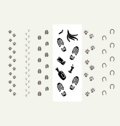 traces of animals and humans vector image