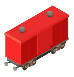 wagon modern icon isometric 3d style vector image