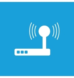 Wi-Fi router icon white vector