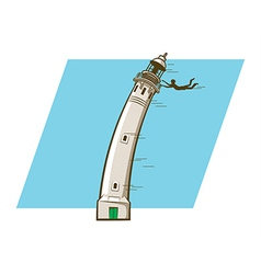 Windy Lighthouse vector image