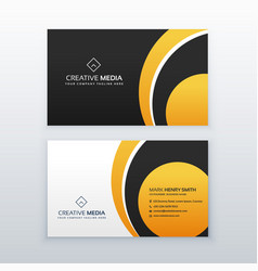 yellow and black professional business card vector image
