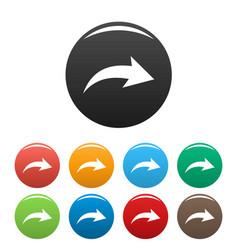 arrow icons set simple vector image