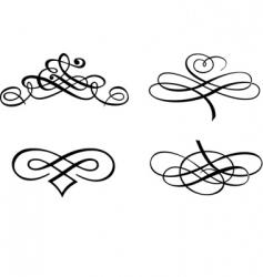 baroque curves vector image vector image