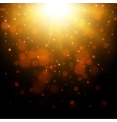 Gold glitter light background vector image